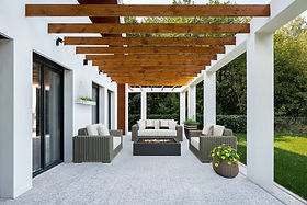 virtual staging before and after example of virtually staged outdoor patio porch designer furniture
