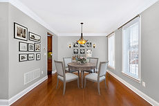 virtual staging example of designer furniture virtually staged dining room