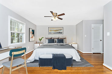 virtual staging bedroom set before and after example