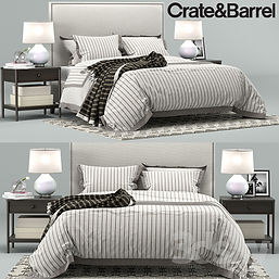 virtual staging furniture example of crate and barrel bed set