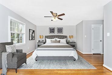 virtual staging restoration hardware style bedroom set design