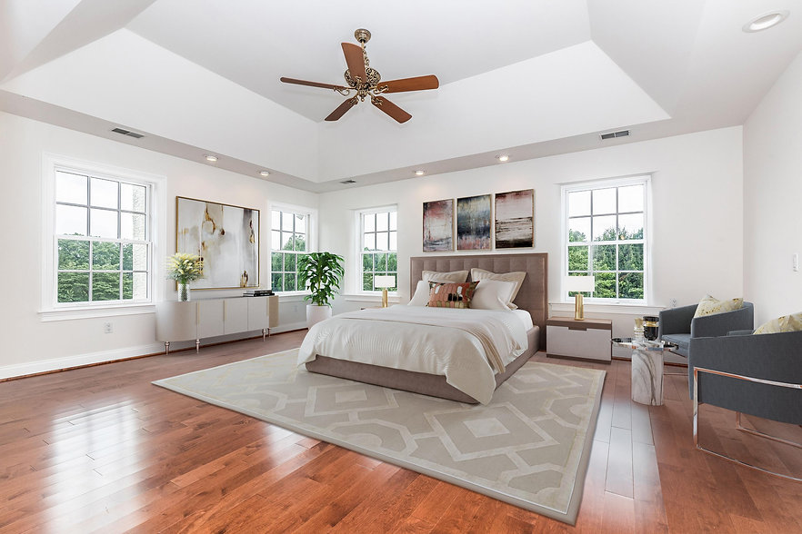 virtual staging example of virtually staged bedroom set