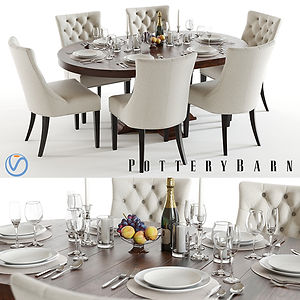 virtual staging designer virtual furniture and dining room sets and dining room tables for virtually staged rooms - pottery barn