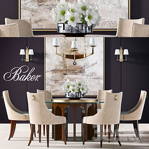 virtual staging designer virtual furniture and dining room sets and dining room tables for virtually staged rooms - baker