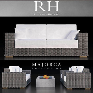 virtual staging designer virtual furniture and outdoor and patio and porch accessories for virtually staged rooms - restoration hardware