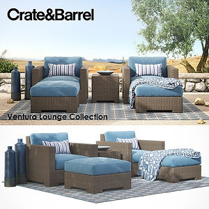 virtual staging designer virtual furniture and outdoor and patio and porch accessories for virtually staged rooms - crate and barrel