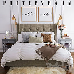 virtual staging furniture example of pottery barn bed set