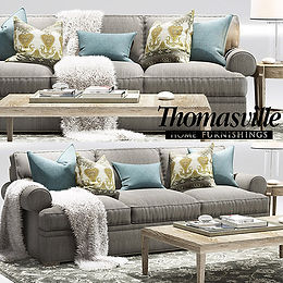 virtual staging furniture example of thomasville virutal living room set