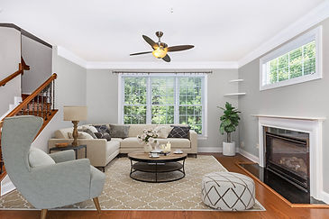 virtual staging before and after example of virtually staged living room designer furniture