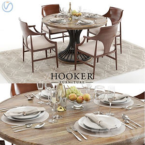 virtual staging designer virtual furniture and dining room sets and dining room tables for virtually staged rooms - hooker