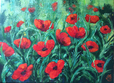 Red Poppies £300