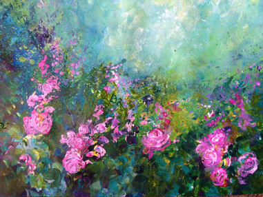Roses in the rain SOLD