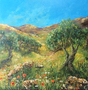 Olive Grove in Springtime £600