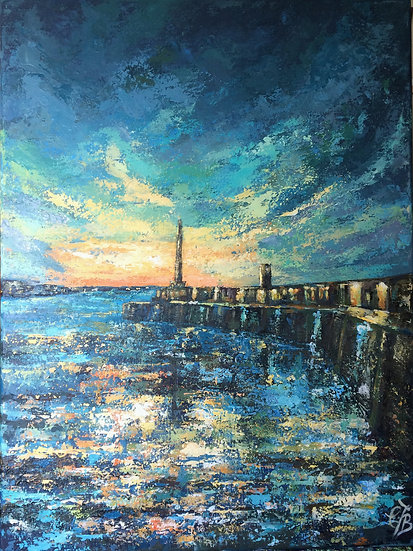 Big Sunset over Margate