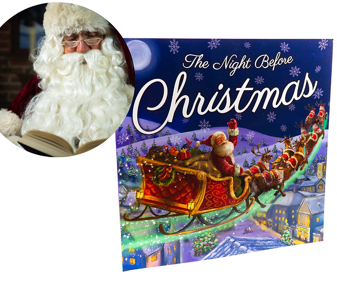 The Night Before Christmas WITH read-along story time video with Santa