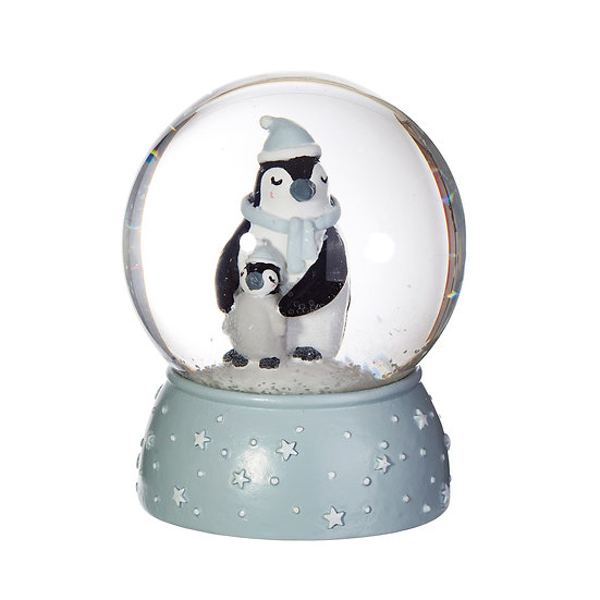 Sass & Belle 'Mum & Baby Penguin Snow Globe'