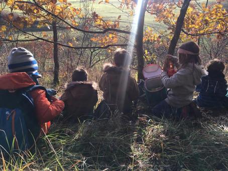 Au coin du feu avec.... l'école maternelle en forêt de Marsac