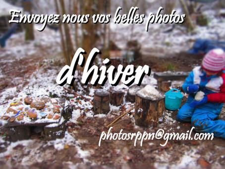 Envoyez-nous vos belles photos d'hiver !