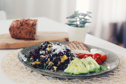 Black Rice with Orange and Mint