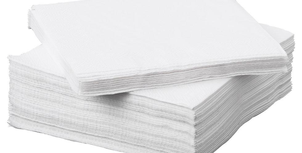 NAPKINS WHITE SINGLE PLY 30cm SQ (x5000)