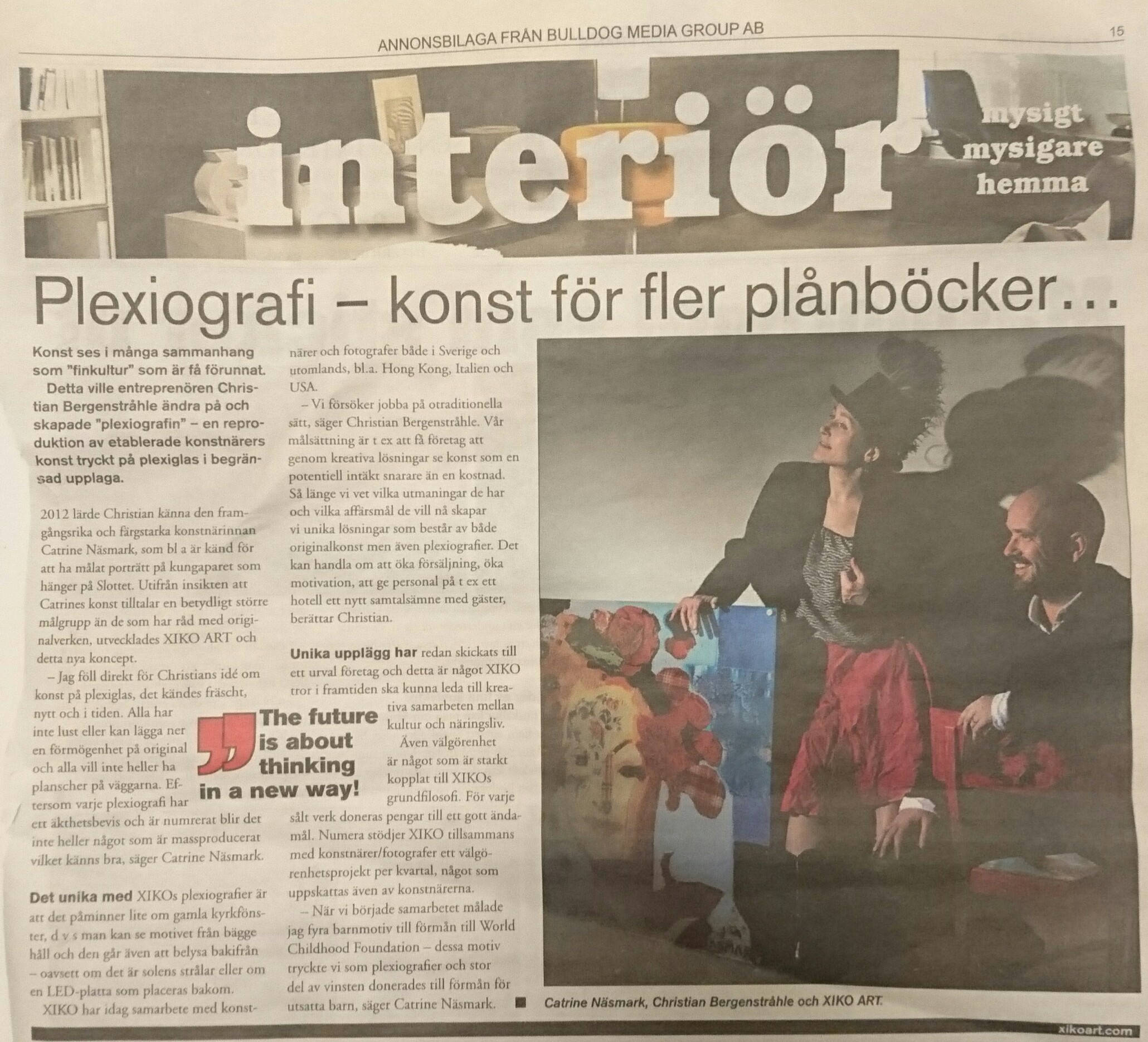 Advertorial about XIKO ART