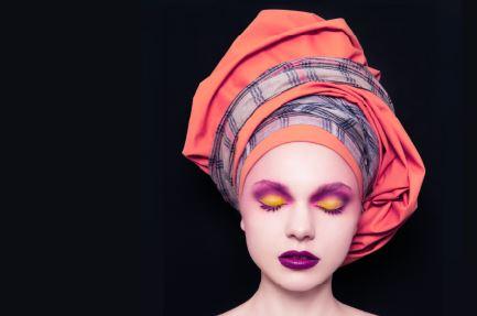 Orange Turban Love (FR007)