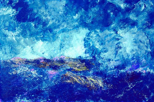 Stormy blue sea (Historical Art)