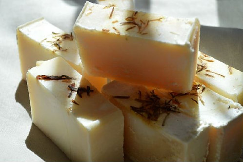 Home-made soap bars with coconut oil
