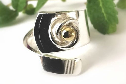 "Rose - Silver ""coffee spoon"" ring"