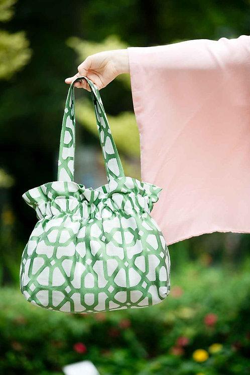 Big Green and White Bag
