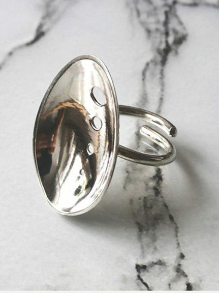 Bowl - Silver ring (coffee spoon)