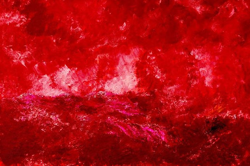 Stormy red sea (Historical Art)