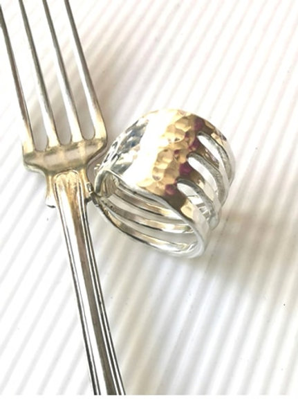 Forky - Silver ring
