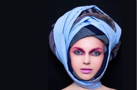 Blue Magic Turban (FR009)