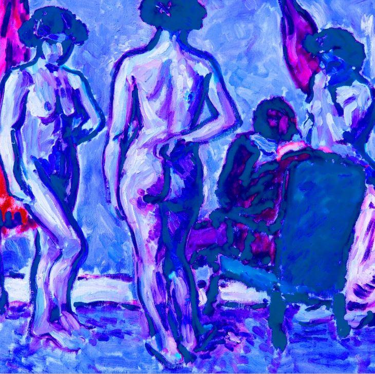 Parisian Blue Ladies (CB004-03)