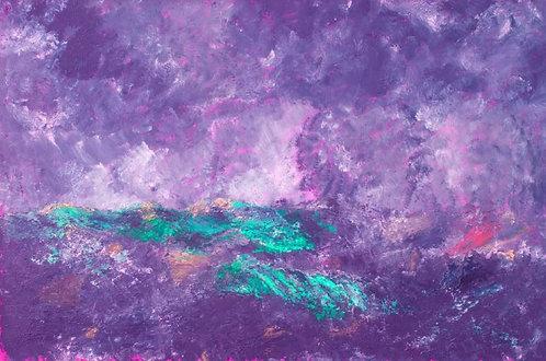 Stormy purple sea (Historical Art)