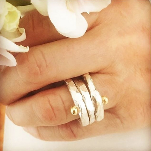 Stack rings - Silver / Gold