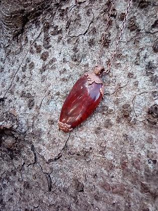 Red Drop - Scottish red jasper pendant