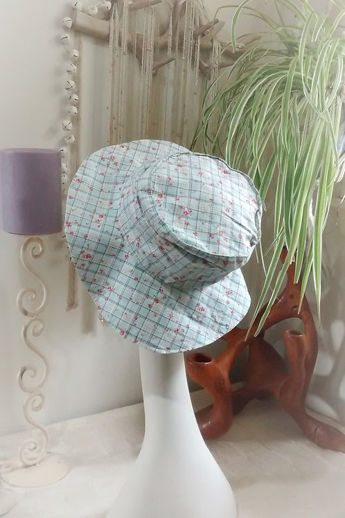 picnic roses - recycled sunhat