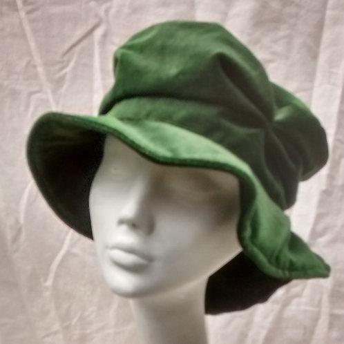 Shamrock - recycled green velvet hat