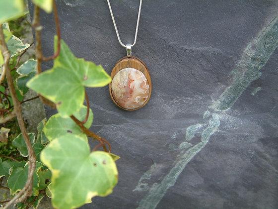Ribbons - Scottish chalcedony pendant