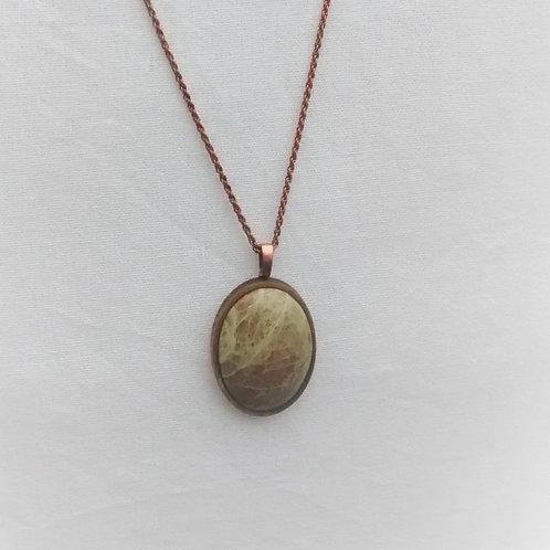 Verdant - Scottish Green Jasper pendant
