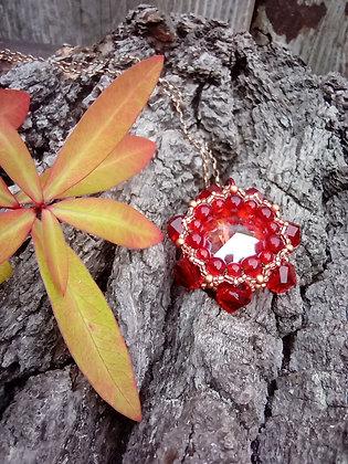 Red rivoli pendant