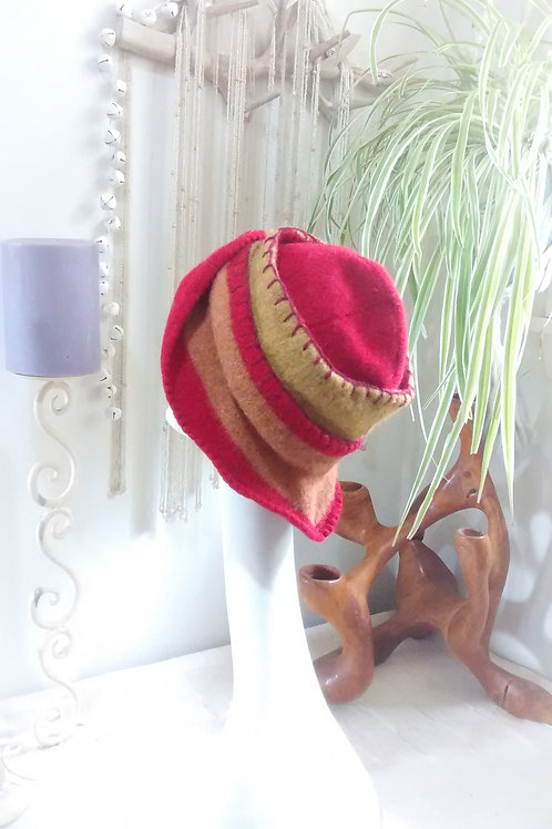 Fire - felted hat