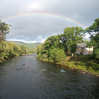 rainbow over river Tay