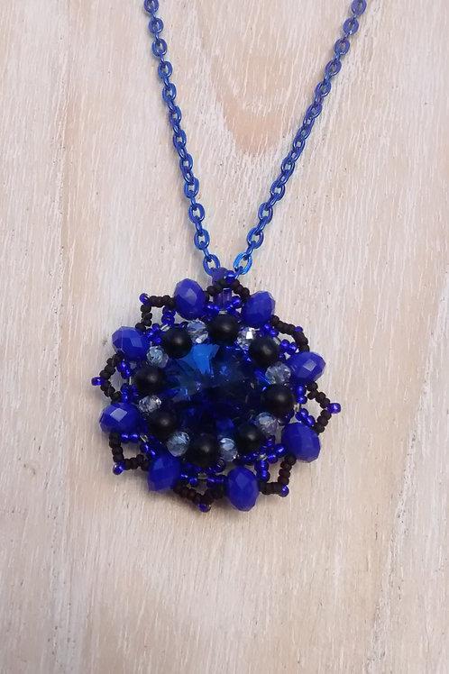 Blue starshot pendant
