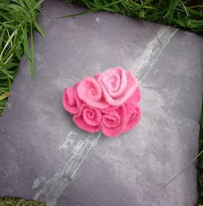 Pink felt Brooch
