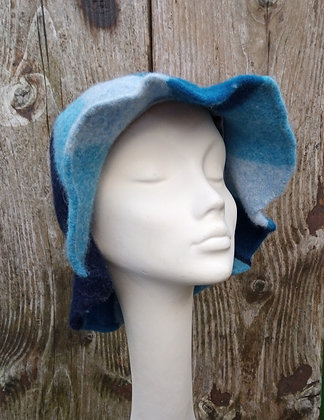 Blue carousel - felted hat