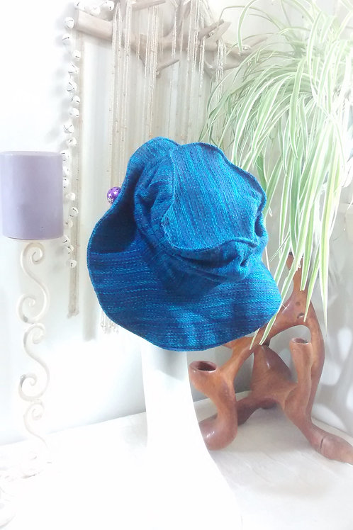 Brilliant blue - recycled hat