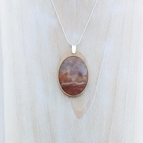 Landscape - Scottish Chalcedony pendant